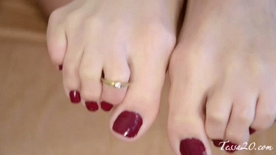 Trying On My New Toe Ring!